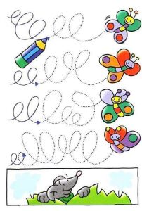 butterfly fun tracing activities