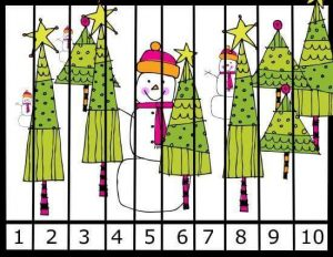 christmas  number sequence puzzles