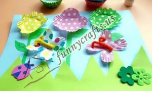 cupcake spring flower liner crafts (6)