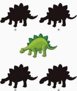 dino shadow matching sheet