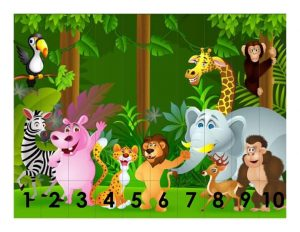forest anmals  number sequence puzzles