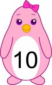 penguin number cards (10)
