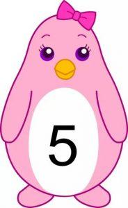 penguin number cards (5)