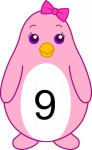 penguin number cards (9)