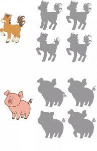 pig shadow matching sheets
