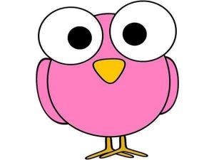 pink owl free printable