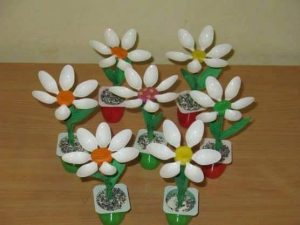 plastic spoon flower crafts
