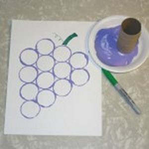 print grape art activity