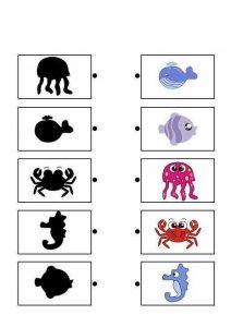 sea animals shadow matching sheets (2)