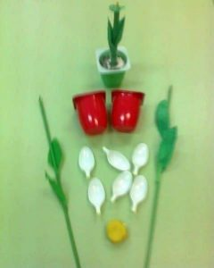 spoon and cup flowers