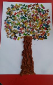 tree tissue paper art projects