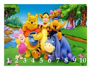 winnie pooh and friends  number sequence puzzles