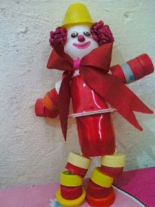yogurt cup clown crafts