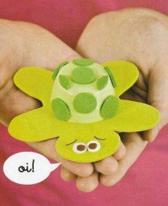 yogurt cup turtle craft