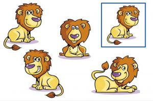 Find out the same lion