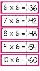 Multiplication puzzle for school (10)