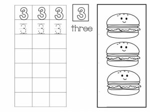 Number writing free sheets (3)