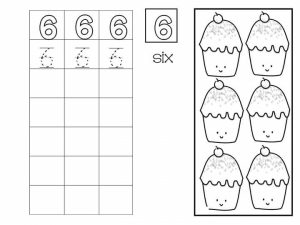 Number writing free sheets (6)