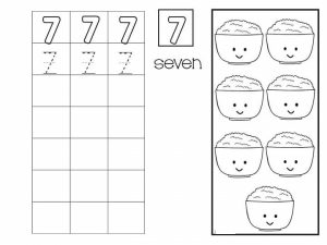 Number writing free sheets (7)