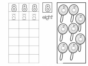 Number writing free sheets (8)