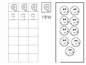 Number writing free sheets (9)