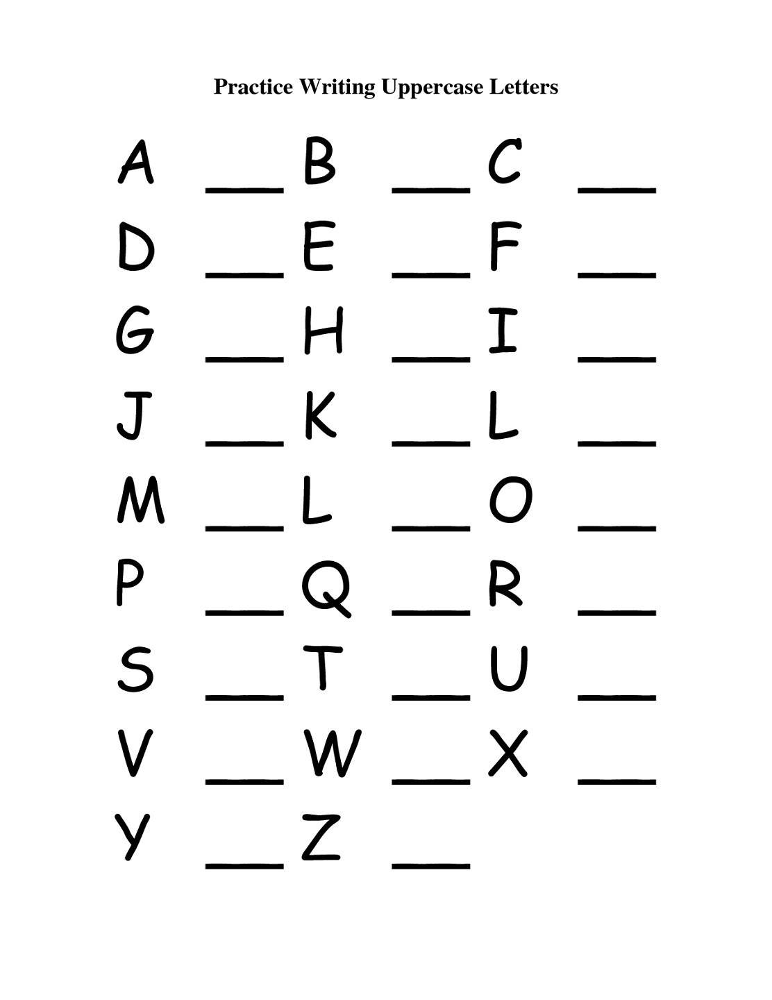 Capital And Lowercase Letters Worksheet - Davezan