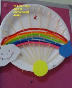Yarn rainbow craft