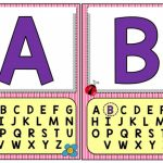Letter posters for classroom
