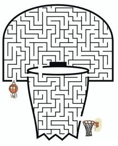 basketball maze worksheets