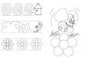 bee pre writing sheet