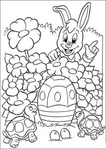 bunny and turtle coloring pages