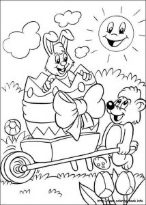 bunny bear coloring pages