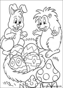 bunny hedhehog coloring pages