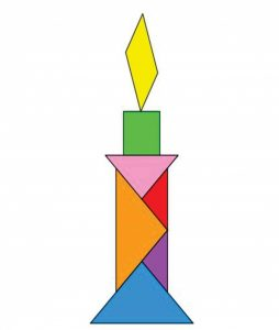 candle tangram