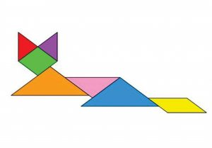 cat family tangram