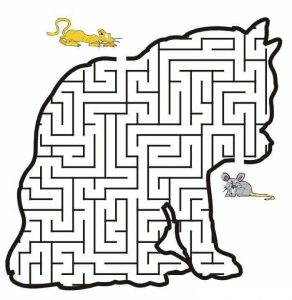 cat maze worksheets