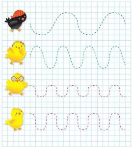 chick prewriting skills activities worksheets printables for kids