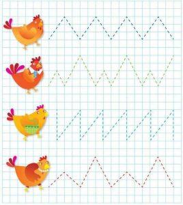 chicken Pre writing  for preschool