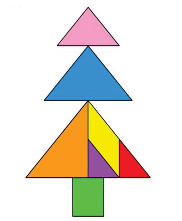 Tangram printables free » christmas tangram