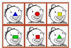 clown color and shape game