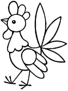 cock coloring pages