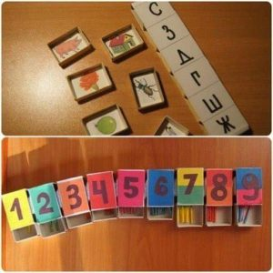 counting activities made from matchboxes