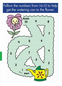 counting worksheets count by 1s mazes (2)