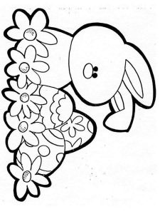 easter and bunny coloring page