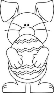 easter egg coloring page