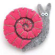 felt snail craft (1)