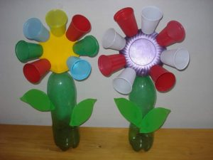 flower crafts from paper cup