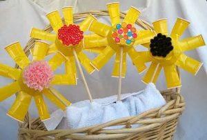 flower garden paper cup crafts
