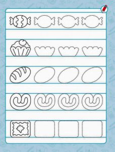 food pre writing sheet