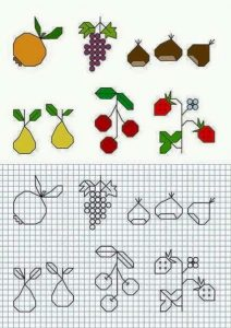 fruit writing exercises for kids